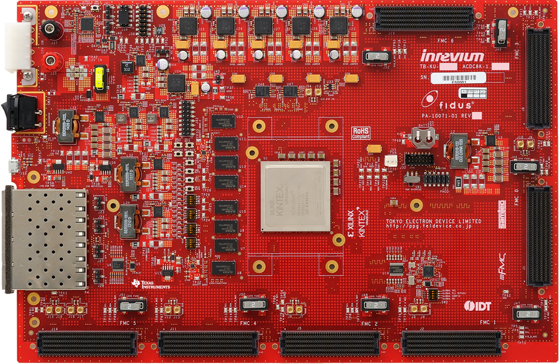 Kintex UltraScale FPGA評価ボード 製品外観