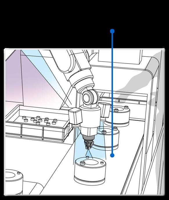 ワークの姿勢を計測し高度な座標補正を行いながら組付け
