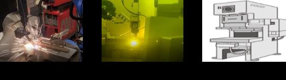 アーク・レーザー・スポット溶接、プレス、ベンダー加工