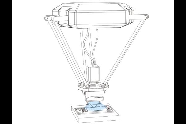 ハーネスのピックアップユニット(位置補正と角度補正)
