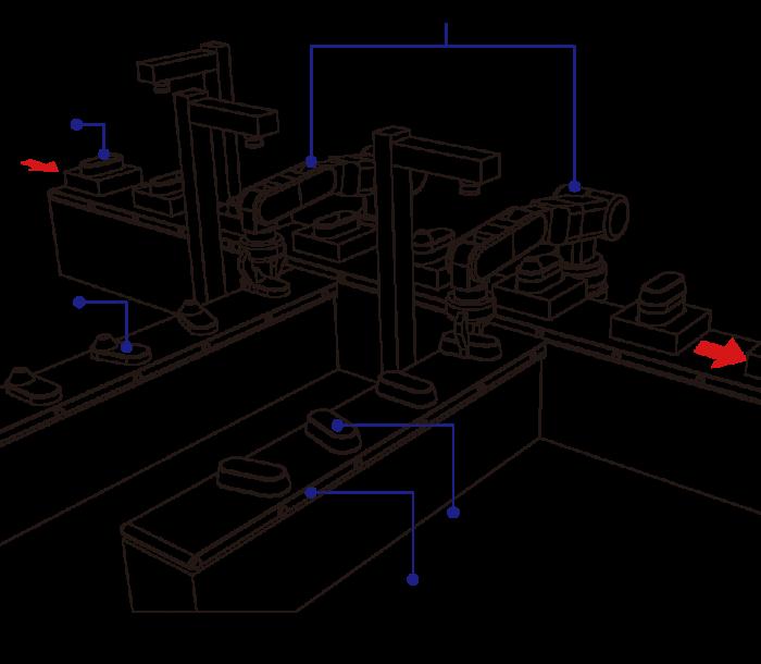 カメラによる部品の補正量情報をもとにロボット制御