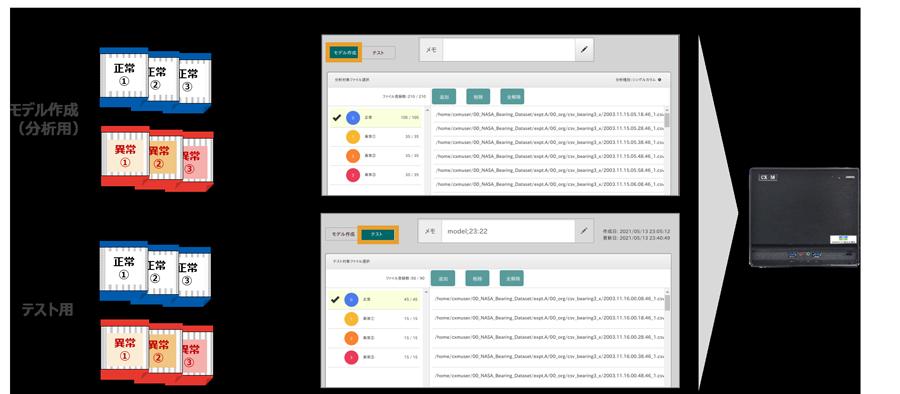 CX-M操作画面でファイル登録